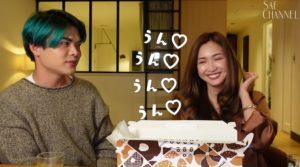 万太郎と笑顔の紗栄子