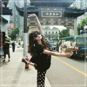 旅行を楽しむ福島愛の義理の姉