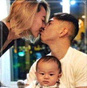 井岡と嫁のキス写真