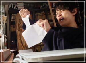 原稿がうまく描けない清一郎