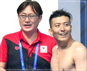 馬淵コーチと寺内選手