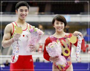 白井健三選手と村上茉愛選手